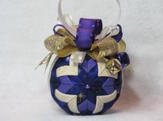 Quilted Christmas Ornament no sew elegant by KCFabricOrnaments, $15.00