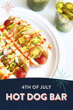 Celebrate the 4th of July with custom hot dog creations.