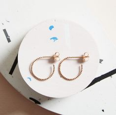KIND Collection - Rose Gold Solar Earrings, Small.