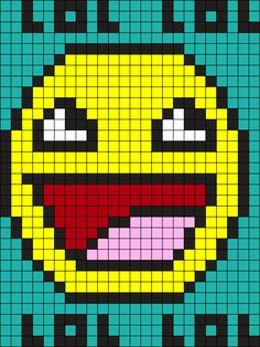 Awesome Face Perler Bead Pattern / Bead Sprite