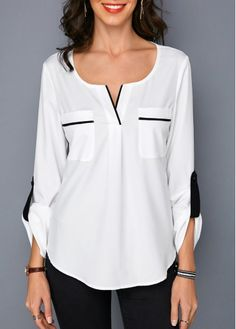 trendy tops for women online on saleShop Womens Fashion Tops, Blouses, T Shirts, Knitwear Online Blouse Styles, Blouse Designs, Casual Skirt Outfits, Blouse And Skirt, Trendy Tops, Ladies Dress Design, Blouses For Women, Ladies Blouses, Fashion Outfits