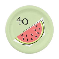 #stylish - #Watermelon Green slice 40 Age paper plates