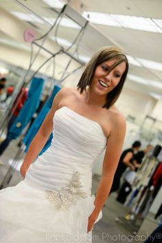 Lens Blossom Photography: Brides at David's Bridal --Bring a photographer to photograph you trying on your dress!