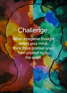 When negative thoughts enter your mind think 3 positive ones learn to flip the script Positive Vibes, Positive Quotes, Positive Outlook, Positive And Negative, Positive Mindset, Positive Energie, Negative Thinking, Psychology Facts, Psychology Experiments
