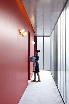 Dimore Studio Brings Glamour to Casa Fayette Hotel in Guadalajara, Mexico. Design Hotel, Home Design, Hotel Hallway, Hotel Corridor, Colour Architecture, Interior Architecture, Commercial Design, Commercial Interiors, Interior Modern