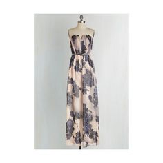 Long Strapless Maxi Mirth, Wind, and Inspire Dress by ModCloth (15805 ALL) ❤ liked on Polyvore