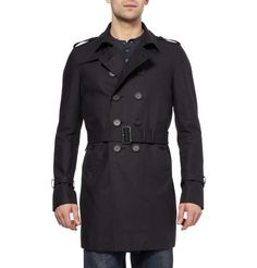Burberry ProrsumDouble-Breasted Cotton-Gabardine Trench Coat