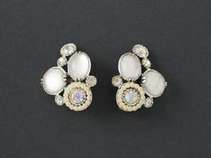 Vintage Selro   Earrings Faux Moonstone from  ShinyShelly on Etsy
