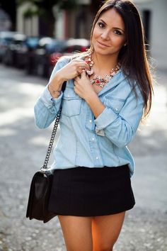 camisa jeans feminina 6 cores veste bem + calcinha de brinde - frete grátis? 74,90
