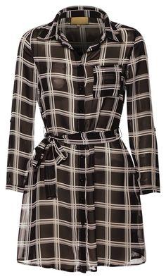 Chiffon Comfy Shirt Dress - Donna Marina