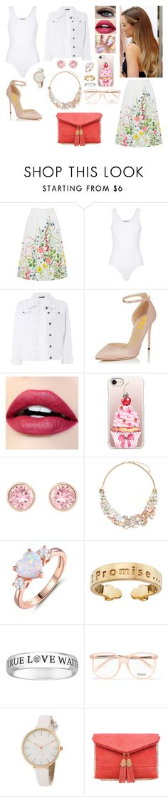 """""""Sunday School Teacher"""" by divinemaboundou ❤ liked on Polyvore featuring Wildfox, Dorothy Perkins, Casetify, Swarovski, Accessorize, Peermont, I Promise by Karen R., Chloé and Urban Expressions"""