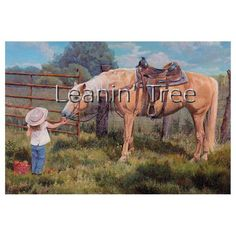 Leanin' Tree An Apple A Day Horse Thank You Greeting Card