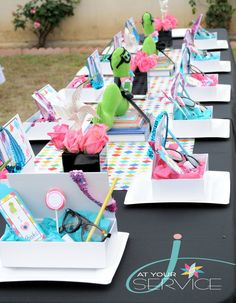 OMG look at this nerd-tastic bookworm party decor!!!! I'm sure I could do something like this for an incentive party!!!!!.... A Glitzy Bookworm-ette Birthday.  An AWESOME birthday idea for little literature-loving ladies  ;-)