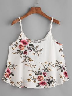 feitong crop tops women 2018 white floral print sexy tops chiffon summer top woman T-Shirts tank top women halter neck cropped Casual Chic Outfits, Fashion Outfits, Top Fashion, School Fashion, Womens Fashion, Cropped Tops, Cami Tops, Sleeveless Crop Top, Blouses For Women