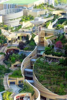 Urban design Namba Parks in Osaka, Japan