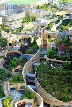 Urban design Namba Parks in Osaka, Japan