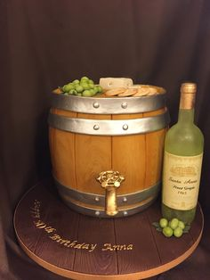 Wine Barrel Birthday Cake Cakes Pinterest Birthday