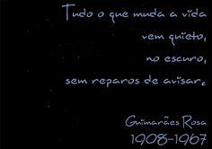 File:Tudo o que muda a vida vem quieto, no escuro, sem reparos de avisar. Guimarães Rosa, 1908-1967 -pt.svg