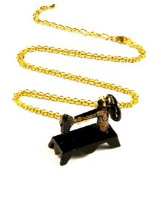 Sewing Machine Necklace by twopennylane on Etsy