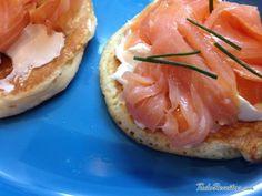 Receita de Blinis de salmão - Fácil