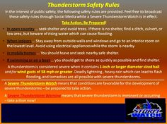 Thunderstorm safety! Seems we'll be needing this judging by the recent weather