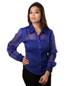 Sapphire House of Fashion Blue Solids Cotton Full Regular Collar Shirts SELLING PRICE Rs 799 Shop Us Now:-http://goo.gl/0GfcNH