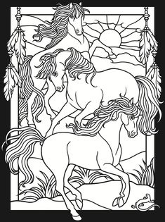 3-D Coloring Book--Horses Welcome to Dover Publications