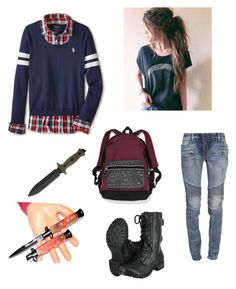 """""""Untitled #67"""" by rainbowchanrawr on Polyvore featuring U.S. Polo Assn., Balmain and Victoria's Secret"""