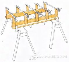 Knock-Down Rack Makes Panel Glue Ups a Breeze - Panel Glue Up Tips, Jigs and Techniques | WoodArchivist.com