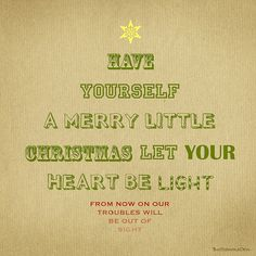 Merry little Christmas. Love the typography
