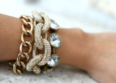 Sparkles and gold.
