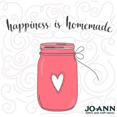 #MondayMantra | Happiness is homemade and homemeade is from the heart! | Crafting Quotes | Craft Quotes