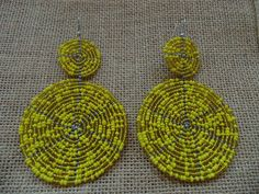 Beaded Earrings-Yellow Variation – Lillon Boutique