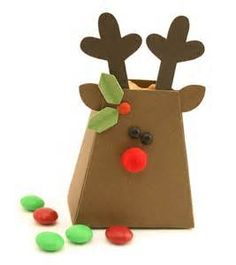 make christmas craft favor box bag candy holder treat - Yahoo Image Search Results