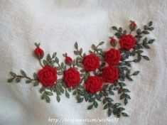 Egoshop Silk Ribbon Embroidery Kit Flowers Blooming DIY Wall Decor Stamp Silk Ribbon Embroidery Kit With English Instruction - Embroidery Design Guide Hand Embroidery Patterns Flowers, Hand Embroidery Videos, Embroidery Flowers Pattern, Flower Embroidery Designs, Embroidery Motifs, Simple Embroidery, Silk Ribbon Embroidery, Hardanger Embroidery, Embroidery Kits