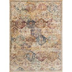 Alexander Home Contessa Ivory/ Multi Rug (2'7 x 4') (Ivory/ Multi (2'7 x 4')), Size 2'7 x 4' (Polyester, Floral)