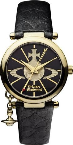 Vivienne Westwood Orb II Women's Quartz Watch with Black Dial Analogue Display a