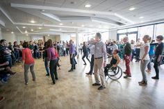 Taller de Stop Gap Dance Company: empleados de Triodos Bank se unen a la compañía de danza integrada.