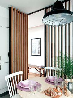 Divider, House Design, Doors, Wall, Kitchen, Furniture, Home Decor, Wood Slat Wall, Interior Doors