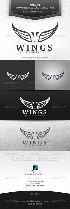 Wings Logo #GraphicRiver