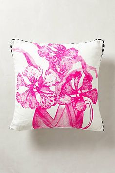 Orchid Pillow #anthropologie