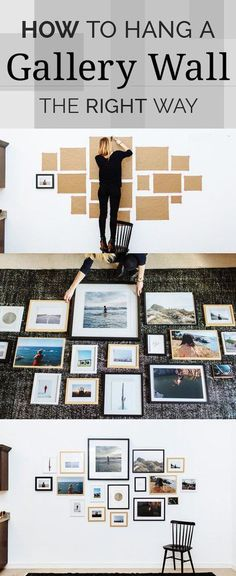 If you have a ton of family photos, the wall space for all your pictures, you should try putting up a gallery wall in your home! Gallery walls are incredibly go