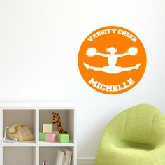 Personalized Varsity Cheer Wall Decal   Wall Decal World