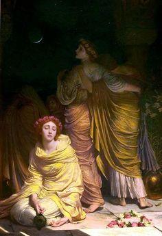 The Athenaeum - The Foolish Virgins, 'Too late, ye cannot enter now' (Sir Francis Bernard (Frank) Dicksee)
