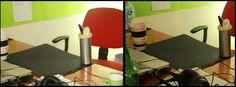 Abbiamo montato il pacchettodisigarettedirezionaflash sulla nostra camera.  A destra la foto col flash normale, a sinistra quella col flash direzionato.  Questo è il risultato:
