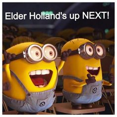 Mormon MEME    #MormonMemes #LDSMemes Church Memes, Church Humor, Church Quotes, Minions Love, Minions Despicable Me, Happy Minions, Lds Memes, Funny Memes, Lds Quotes