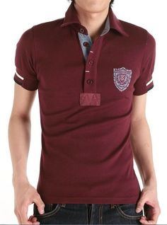 Camisas polo Gents T Shirts, Casual T Shirts, Polo Rugby Shirt, Men's Polo, Shirt Designs, Menswear, Mens Fashion, Mens Tops, Clothes