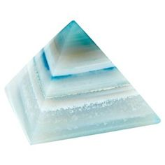 Check out this item at One Kings Lane! Stone Paperweight, Agate Pyramid, Teal