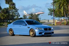 #BMW #F10 #M5 #Sedan #Velos #Design #Wheels #Light #Blue #Moster