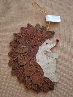 Basteln Schule Igel DIY Naturmaterialien Blätter herrlicher Look Tips On Talking To Kids About Not S Leaf Crafts, Diy And Crafts, Arts And Crafts, Paper Crafts, Decor Crafts, Creative Crafts, Autumn Crafts, Nature Crafts, Christmas Crafts
